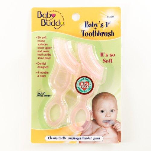 Marque Baby Buddy - Brosse à dents pour bébé 2ct 1er BLEU