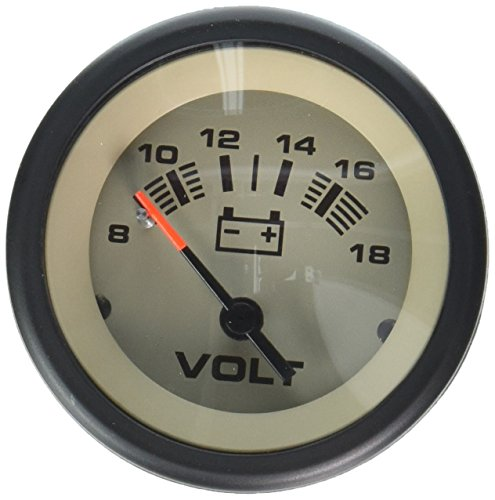 Sierra International 59708P Sahara 8-18 Vdc Dial Range Scratch Resistant Voltmeter, 2