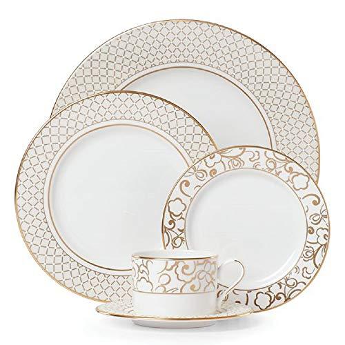 Lenox Venetian Lace Gold 5-Piece Place Setting, 3.75 LB, Metallic