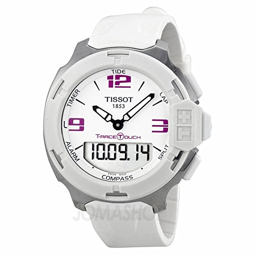 Tissot Tissot T-Race analógico digital Blanco Goma Mens Reloj T0814201701700: goldia: Amazon.es: Joyería