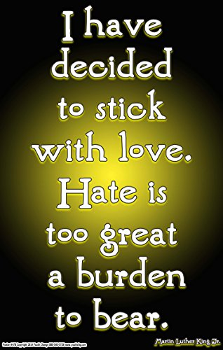 Youth Change Inspirational Martin Luther King Poster: I Have Decided to Stick with Love (Poster #478)