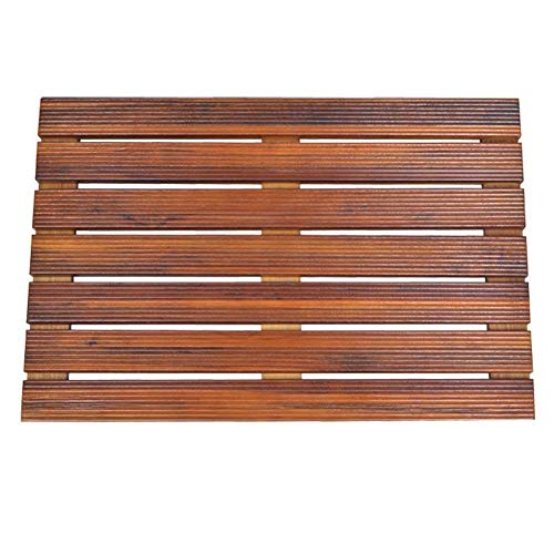 Teak Bath Floor Shower Mat - Solid OR Foldable - Indoor/Outdoor Anti-Slip - Hand Made Eco Friendly Premium Teak Wood - Luxury Shower Spa Mat by Maxtir (21