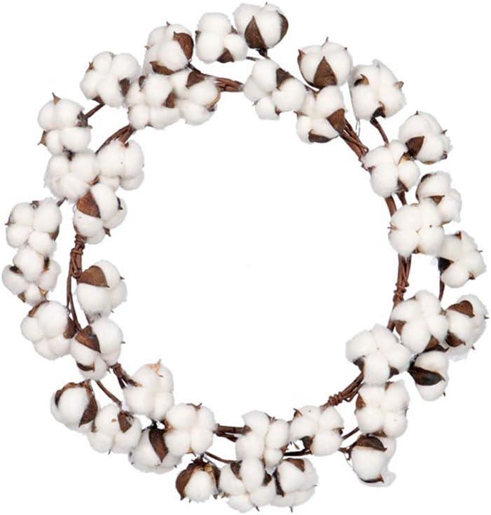 Corona de algodón decorativa, tallos de algodón ajustables con ...