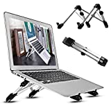 Laptop Stand, Imison Adjustable Laptop Notebook Stand, Portable Foldable Notebook Desktop Stand Holder Dock Compatible for MacBook, Dell XPS, HP, Lenovo and More 8'' ~ 15.6'' Notebooks - Black