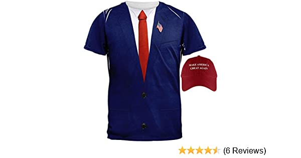 Amazon.com: Halloween Election Donald Trump Costume Shirt and Hat Bundle: Clothing