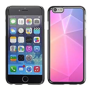 "For Apple iPhone 6 / 6S (4.7 inches!!!)/6S (4.7 INCH) Case , Polígono Arte púrpuras rosadas amarillas Líneas"" - Diseño Patrón Teléfono Caso Cubierta Case Bumper Duro Protección Case Cover Funda"
