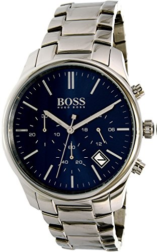 Hugo Boss Commander 1513434 Blue / Silver Stainless Steel Analog Quartz Men's Watch