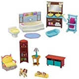 Fisher-Price Loving Family Dollhouse Living Room and Bathroom Furniture Set, Baby & Kids Zone
