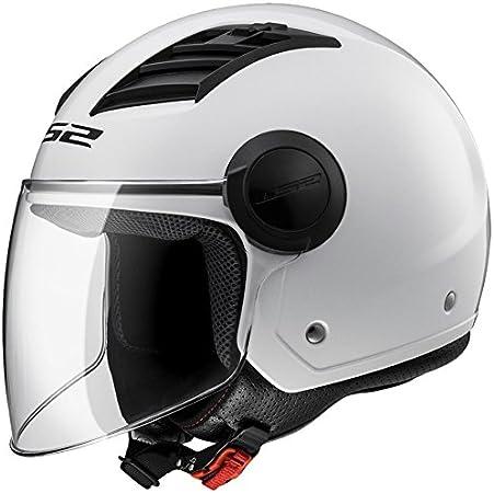 Ls2 Airflow L Jethelm Für Motorradfahrer Glänzend Weiß Größe Xxl Auto