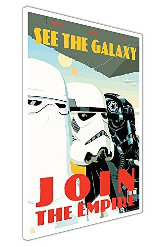 Canvas It Up Pop Art Leinwand Star Wars Zitat Join The Empire, Poster/Wanddekoration Europäisch 02- A3 - 16