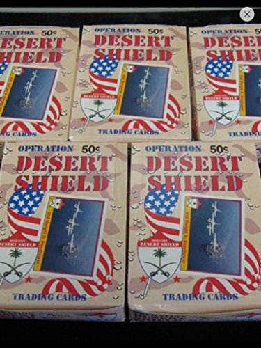 Desert Storm Trading Cards 1991 Unopened Box (36) Wax Packs Veterans Gift Non-sport from Pacific