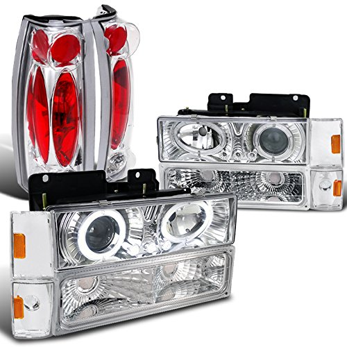 Chevy GMC C/K 1500 2500 Blazer Silverado Projector Chrome Headlight+Tail Lamp (93 Chevy 1500 Grille compare prices)
