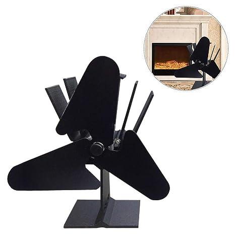 Arvin87Lyly Ventilador de Chimenea, Ventilador para fogón accionado con Calor, para Estufa o Chimenea
