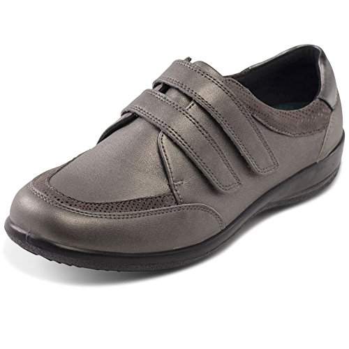 Padders Caitlin Womens Twin Strap Shoes 5.5 Gun Metal i4QkkpMTh