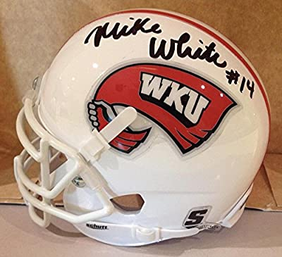 Mike White Qb Western Kentucky Hilltoppers Signed Schutt Mini Helmet W/coa