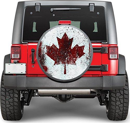 Canada Flag Sticker Full Color Spare Tire Cover Decal, Sticker Wheel Cover gc1549
