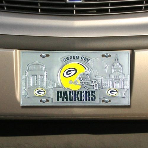 NFL Enterprises Green Bay Packers Heavy-Duty Color Pewter License Plate