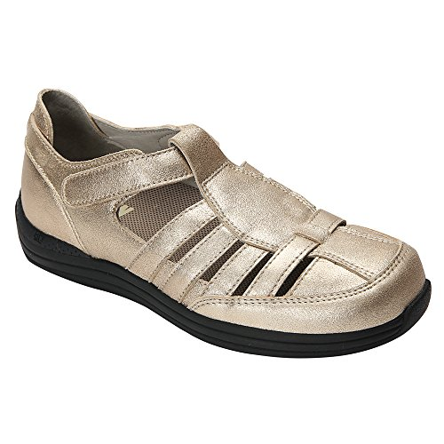 WIDE 10 Leather Women's Dusty Dusty flats Gold X Ginger Pewter Drew w0XqdBBv