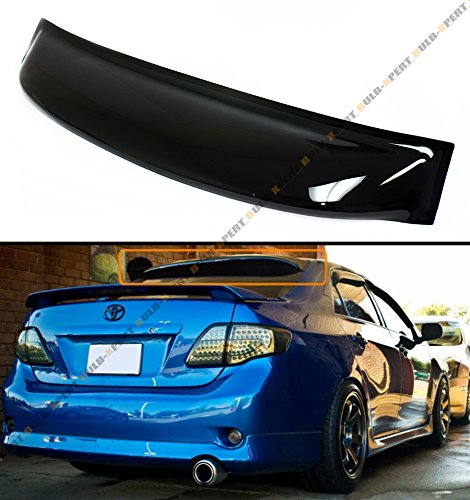 Tinted Rear Windows (FOR 2009-2013 TOYOTA COROLLA JDM SMOKE TINTED REAR ROOF AERO RAIN SUN WINDOW VISOR)