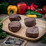Butcher's Choice Gift Box 4 (6 oz.) Filet Mignons - Set of 4 Wet Aged Filet Mignon Beef Cut Gift Set with 1 Pack Steak Seasoning - Juicy Filet Mignons Perfect as Home-made Grilled Steak