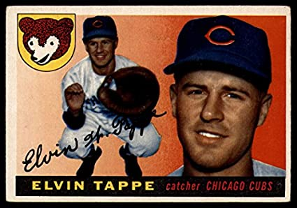 1955 Topps #129 El Tappe Elvin Chicago Cubs RC Rookie Baseball Card