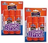 #10: Elmers Jumbo Disappearing Purple School Glue Stick, 1.4 Ounce, 2 Packs of 3 Sticks, 6 Sticks Total