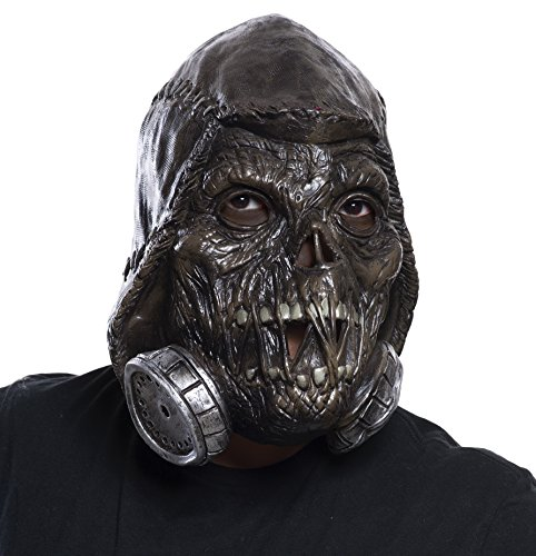 (Rubie's Men's Arkham Knight Scarecrow 3/4 Vinyl Mask, Black, One)