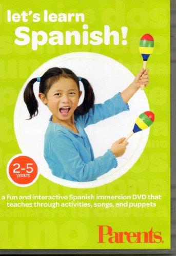Let's Learn Español, un DVD de inmersión español, divertido e interactivo que enseña a través de actividades, canciones...