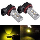 DunGu H11 H8 H9 LED Bulbs 50W Epistar LED Projector For Fog Light (Golden Yellow) (Pack of 2)