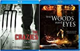 The Woods Have Eyes & The Crazies Blu Ray Scary Horror Thriller Movie Set