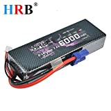 HRB 2s 7.4v 6000mah 60c Li-poly Lipo Battery Hard Case With EC5 Plug For RC Model Traxxas Car Losi Boat Truck Buggy