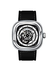 Seven Friday P1B-01 47X47.6mm Automatic Stainless Steel Case Black Calfskin Mineral Men's & Women's Watch