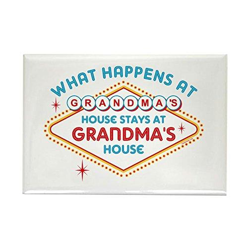 CafePress Las Vegas Stays At Grandma's Rectangle Magnet, 2