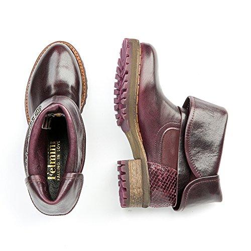 Felmini - Zapatos para Mujer - Enamorarse con Clara 9009 - Botines Cowboy & Biker - Genuine Cuero - Varios colores - 0 EU Size