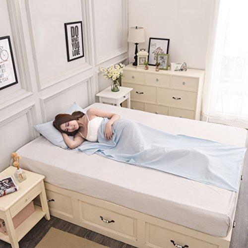 Syncyoo Travel Camping Sheet Sleeping Bag Liner Compact Sleep Bag And (Hot Sheet)