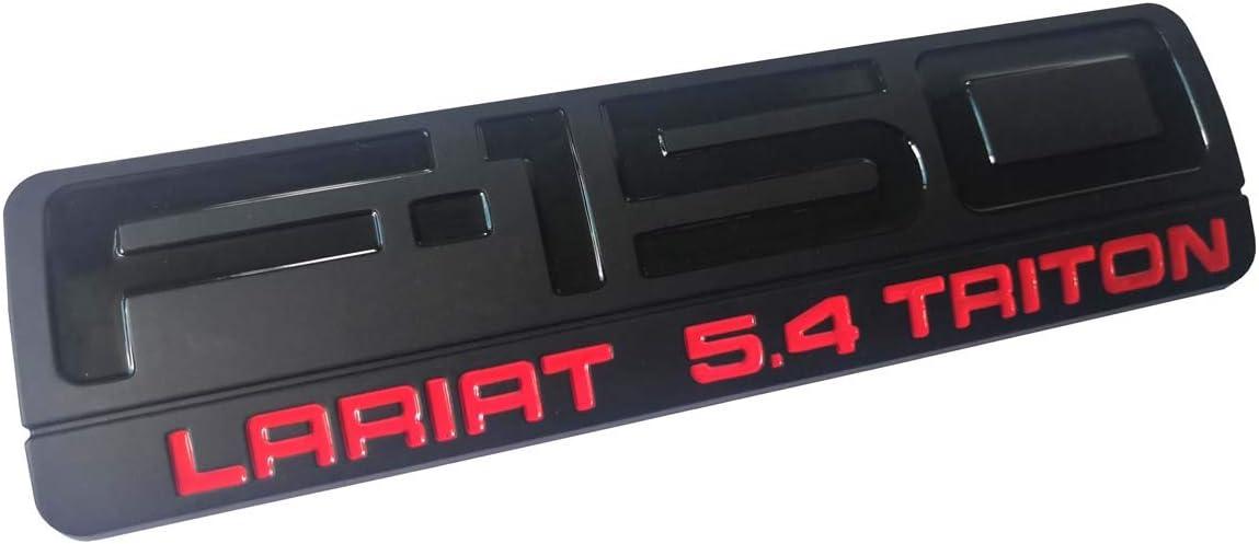 3pcs Black Red 2004-2008 F-150 XLT 5.4 Triton Fender Emblems Badges PAIR NEW 3D logo Replacement for F150 Aruisi