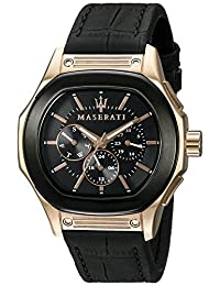 Maserati Men's R8851116002 Analog Display Quartz Black Watch