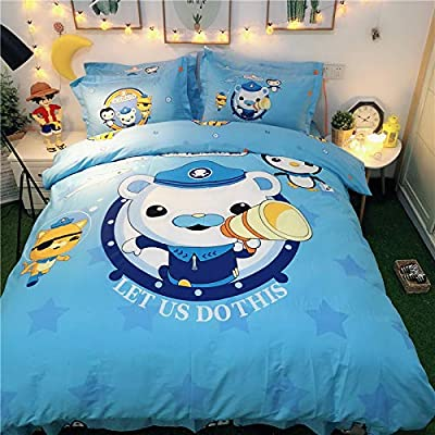 Casa 100% Cotton Kids Bedding Set Boys Octonauts Duvet Cover and Pillow case and Fitted Sheet,3 Pieces,Twin: Home & Kitchen
