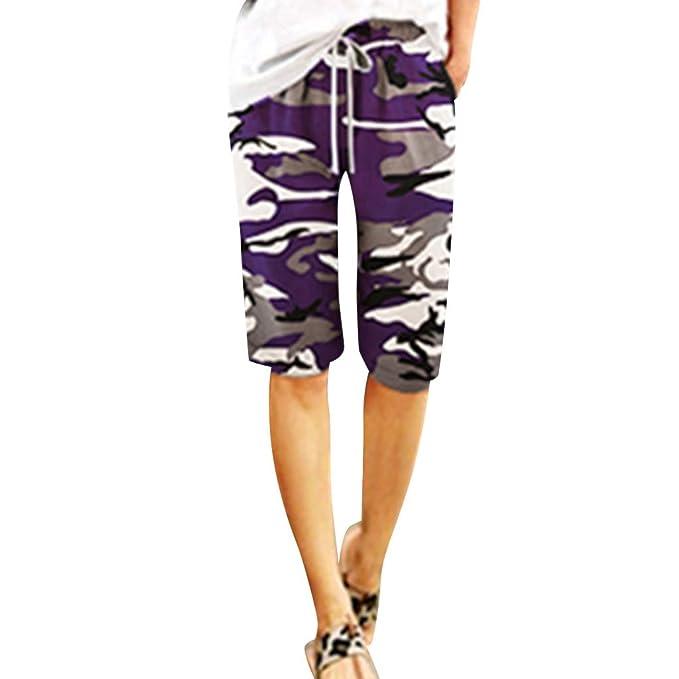 Amazon.com: BSGSH - Pantalones cortos para mujer, estilo ...