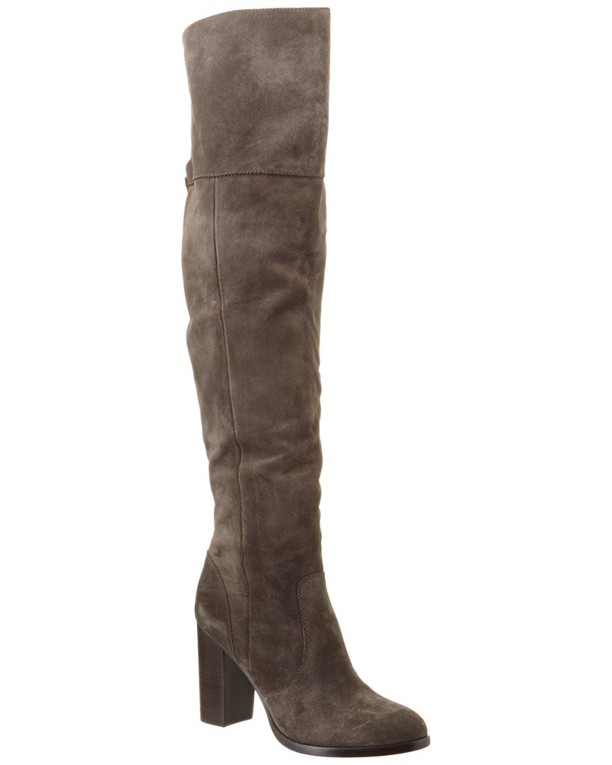 FRYE Women's Claude OTK Leather Slouch Boot B0191ZINM6 11 B(M) US|Smoke Oiled Suede