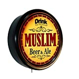 MUSLIM Beer and Ale Cerveza Lighted Wall Sign