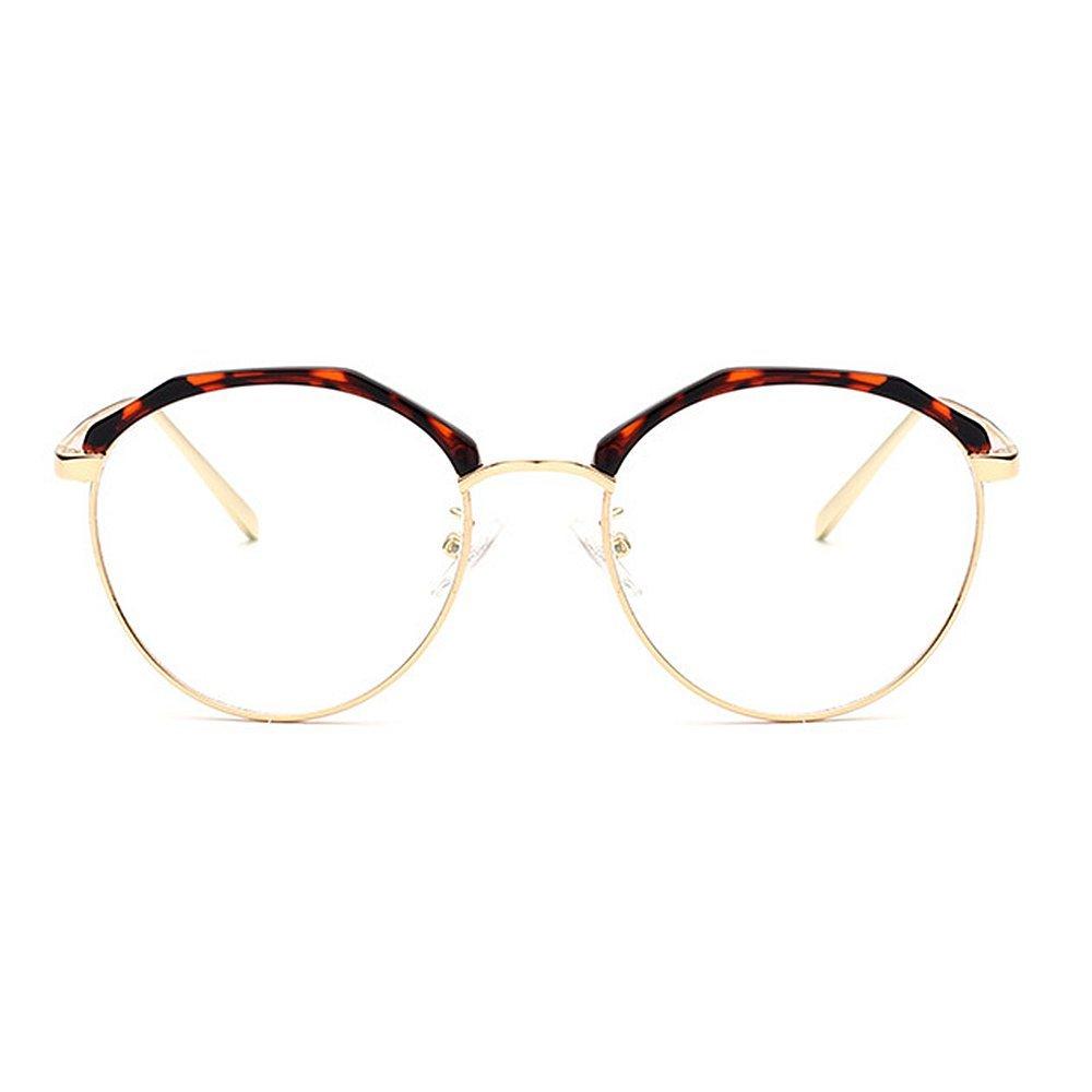 Marco poligonal transparente con estilo redondo mujer gafas Gafas de ...