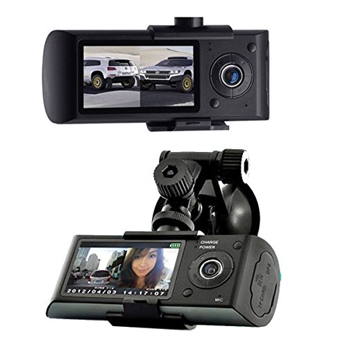 2.7inch LCD Vehicle Car Dashboard DVR Camera Video Recorder Dual Lens GPS Logger - 6
