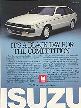 Isuzu Impulse Turbo RS Brochure