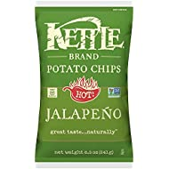 Kettle Brand Potato Chips, Jalapeño, 8.5-Ounce Bag
