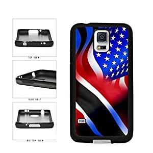 Trinidad and USA Mixed Flag TPU RUBBER SILICONE Phone Case Back Cover Samsung Galaxy S5 I9600 by icecream design