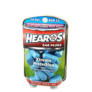 Hearos Ear Plugs Xtreme Protection Series 14 pairs ( Pack of 3 )