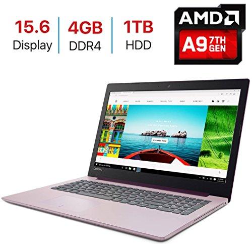 2018 Lenovo IdeaPad 320 15.6-inch HD (1366x768) Display Laptop PC, AMD A9-9420 Processor up to 3.6GHz, 4GB DDR4 SDRAM, 1TB HDD, HDMI, Bluetooth, WiFi, Webcam, DVD±RW, Windows - Purple Pc