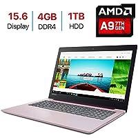 2018 Lenovo IdeaPad 320 15.6-inch HD (1366x768) Display Laptop PC, Quad Core AMD A9-9420 Processor up to 3.6GHz, 4GB DDR4 SDRAM, 1TB HDD, HDMI, Bluetooth, WiFi, Webcam, DVD±RW, Windows 10-Purple