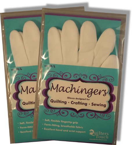Bulk Buy: Quilters Touch Machingers Gloves Medium/Large 209G-L (Machingers Gloves)